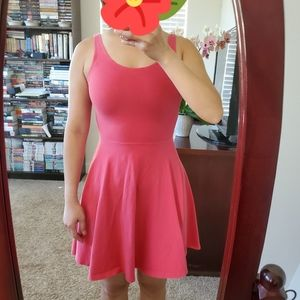 Express Fit and flare pink dress